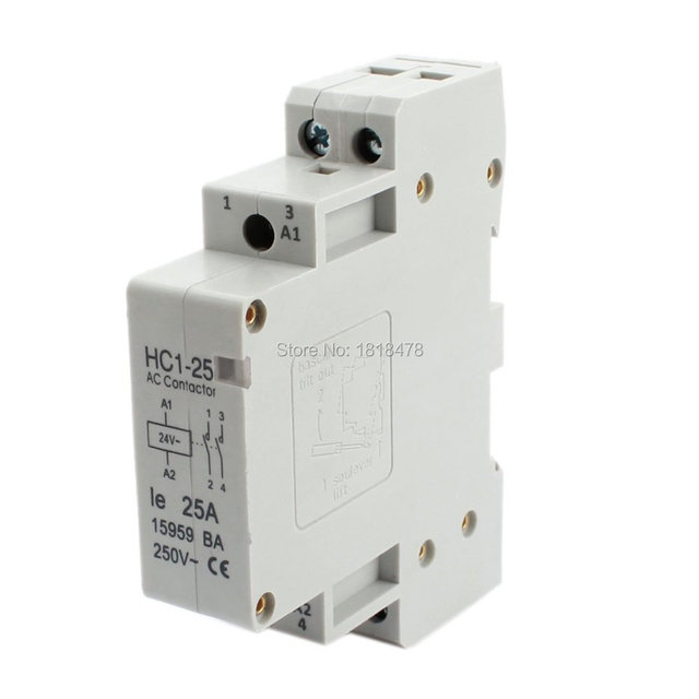 HC1 25A 24V Coil Voltage 25A 2 Pole Universal Circuit Control AC ...