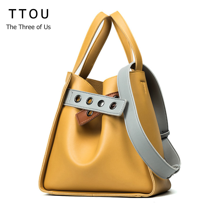 TTOU Fashion Women Handbag Pu Leather Tote Bag Brand Shoulder Bags For Women Casual Top Handle Bag Design New Lady Bag Bolsos 2016 new fashion women s messenger bags famous brand handbag leather lady shoulder bags clutches diagonal mochila casual tote