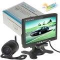 7 polegada TFT LCD Cor Retrovisor Do Carro Monitor de Encosto de Cabeça de Estacionamento Monitor de 7 ''2 Entrada de Vídeo para DVD VCR + Câmera de Visão Traseira Do Reverso Do Carro