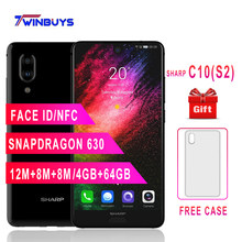 SHARP AQUOS C10 S2 мобильные телефоны Android 8,0 4 GB + 64 GB 5,5 ''FHD + Snapdragon 630 Octa Core Face ID NFC 12MP 2700 mAh 4G смартфон(Hong Kong,China)