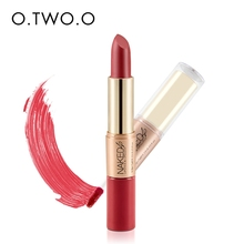 O.TWO.O Matte Lipstick Makeup Velvet Matte Lipstick and Matte Lipgloss 2 in 1
