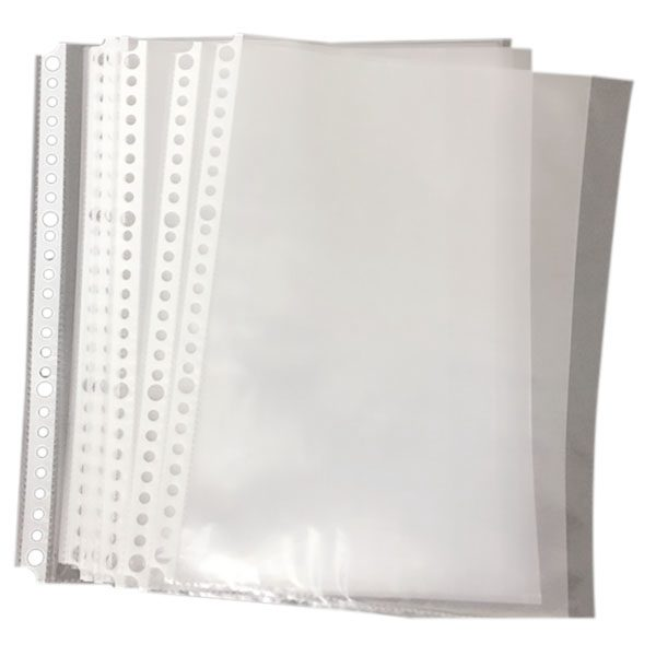 Pack of 200 A5 Clear Punched Pockets - Plastic Poly FoldersPack of 200 A5 Clear Punched Pockets - Plastic Poly Folders