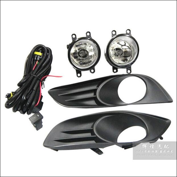 ФОТО Hireno Car DRL Waterproof ABS 12V Daytime Running Lights for YARIS HATCHBACK 2009-ON Fog lamp 2PCS