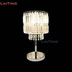 Laiting Verlichting Moderne Dia 25 cm Kristallen Tafel Lamp Warm Creatieve Art Deco Nachtlampje voor Kinderen LT-20068 + Gratis verzending
