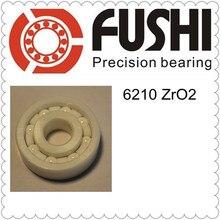 6210 Полный керамический подшипник (1 предмет) 50*90*20 мм ZrO2 Материал 6210CE все циркония керамические шарикоподшипники