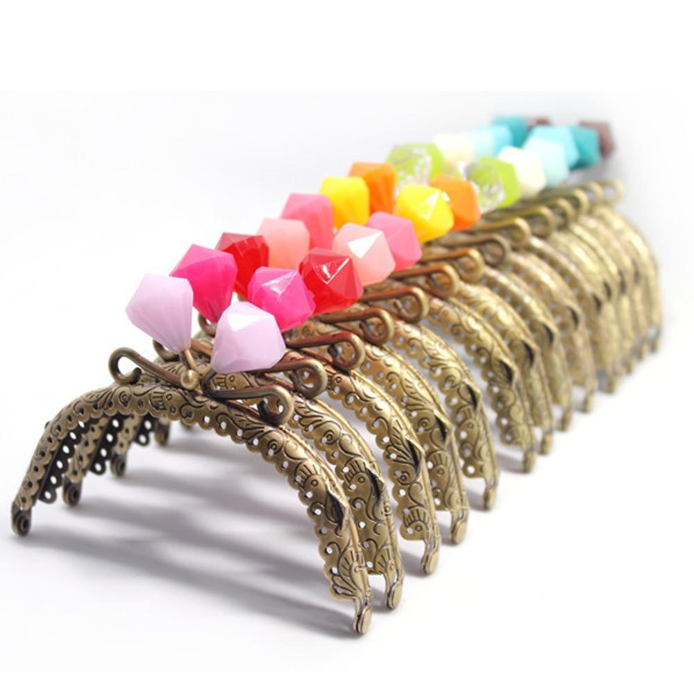 12.5cm Colorful Candy Diamond Shape Kiss Buckle Women Mini Coin Bag Purse Frame Bag Making Hardware Metal Clasp 10pcs/lot