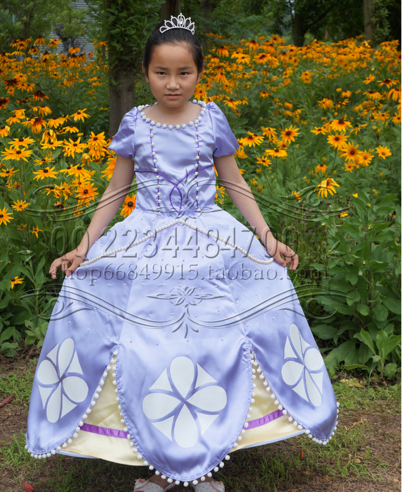 Sofia Princess Dress Kids Cosplay Costumes Girls New Arrival: Free Shipping New Adult Clothing Dress Sofia The First