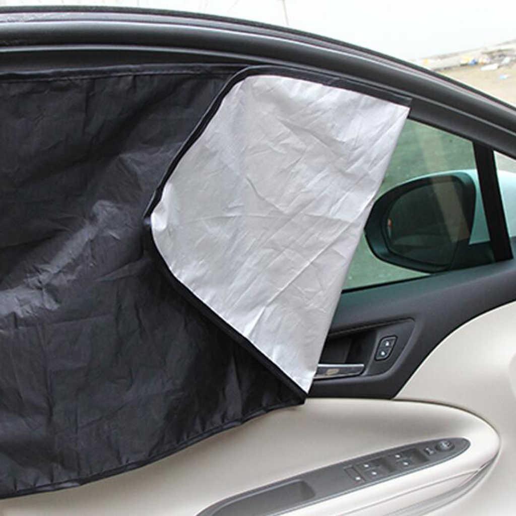 Автомобильная шторка от солнца, 2 шт., сетчатый козырек от солнца, защита бокового окна, защита от УФ-лучей, магнит для Toyota Nissan VW Ford Honda и т. д., новинка 2020