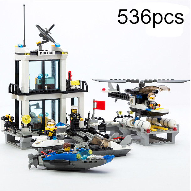 City Police Station 536pcs Learning & education AIBOULLY 6726 Building Block Set Figures Bricks Boys Toys Compatible With Gift lego education 9689 простые механизмы