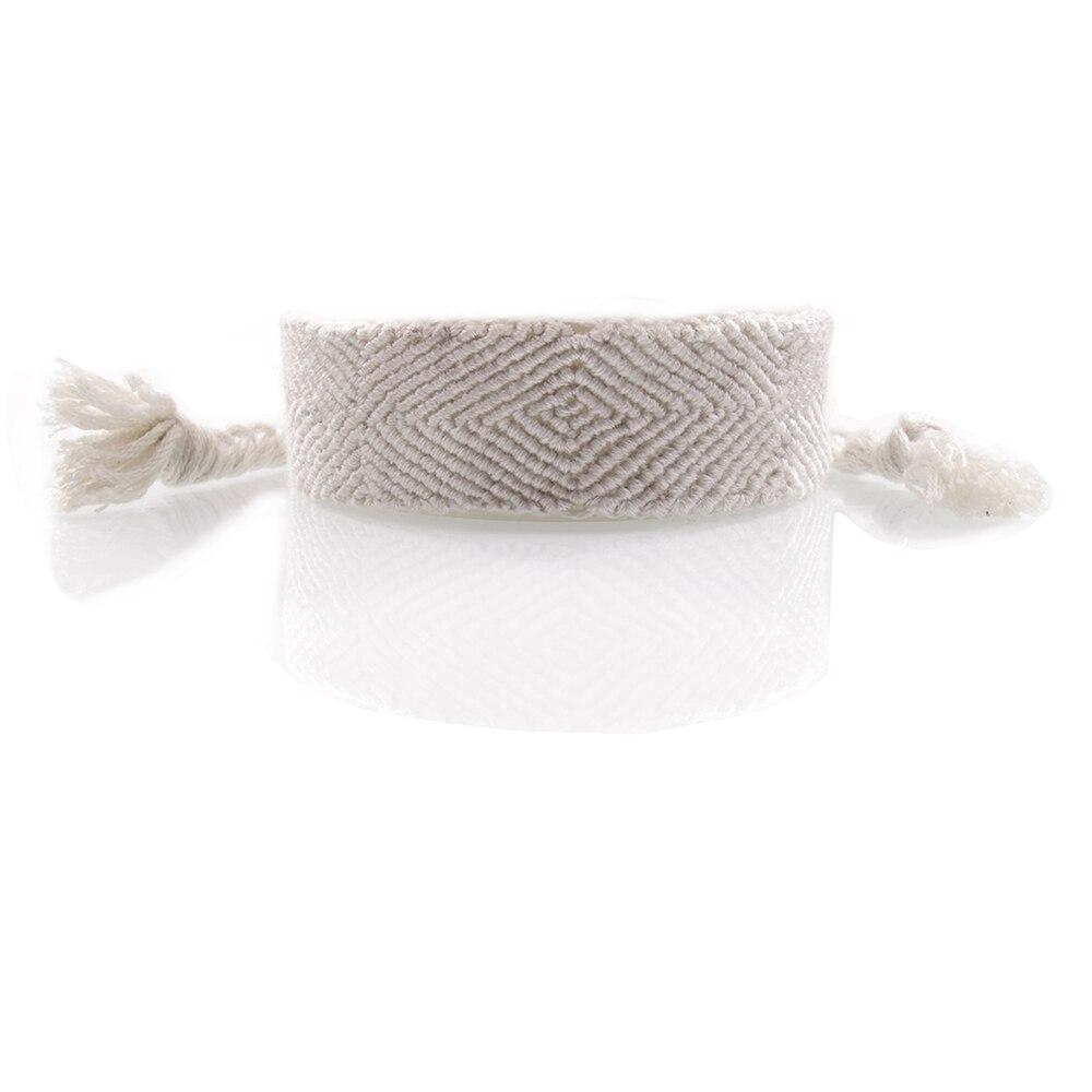 Ausdauernd 2019 Neue Mode Reine Weiß Einzel Tone Freundschaft Armband Misangas Handwoven Baumwolle Stickerei Kabel Vielseitig Sommer Armband
