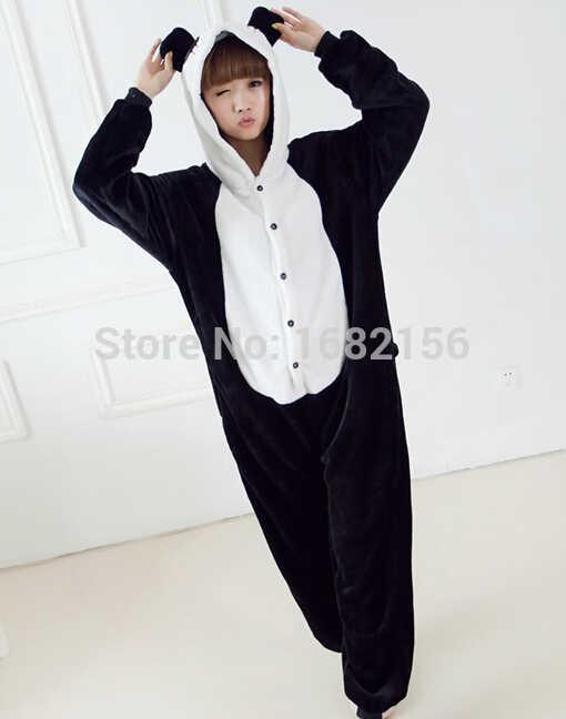 Кигуруми фланелевые пижамы Аниме ползунки «панда» костюм жирафа Пижама  толстовки для взрослых дети мультфильм 7d55911b98cbe