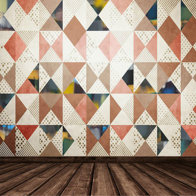 Modern Geometric Pattern Diamond 3D Wallpaper For Walls 3d Abstract Decorative Painting Wall Murals