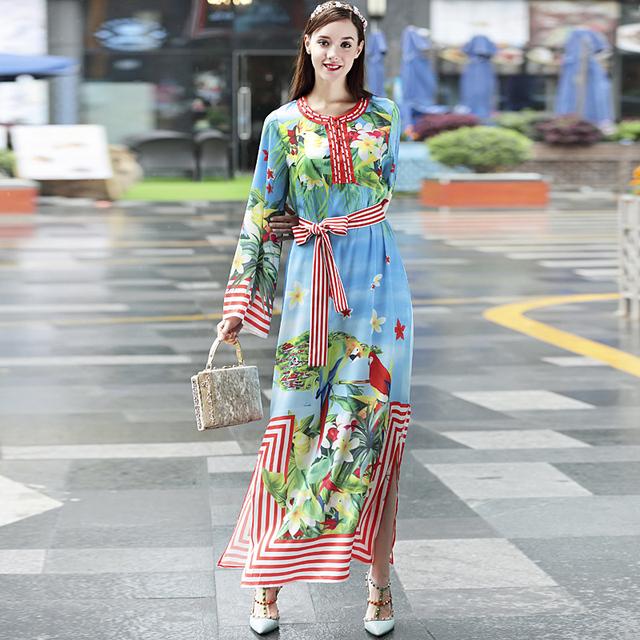 Boho Party Print runway Dress