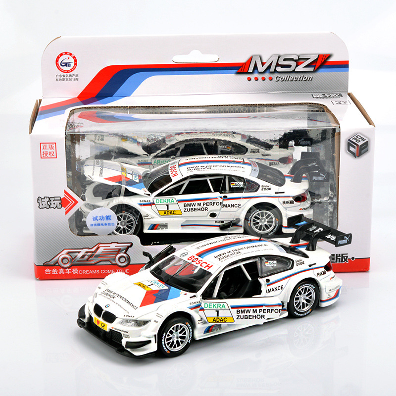 1:32 Diecast Metal Car Model <font><b>Toys</b></font> For <font><b>Bmw</b></font> <font><b>M3</b></font> With Pull Back Function Electronic <font><b>Toy</b></font> With Simulation Light And Music For Kid <font><b>toys</b></font> image