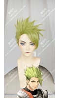 Anime Fate/Apocrypha Achilles Cosplay Wig Short Green Heat Resistant Synthetic Hair Wigs + Wig Cap