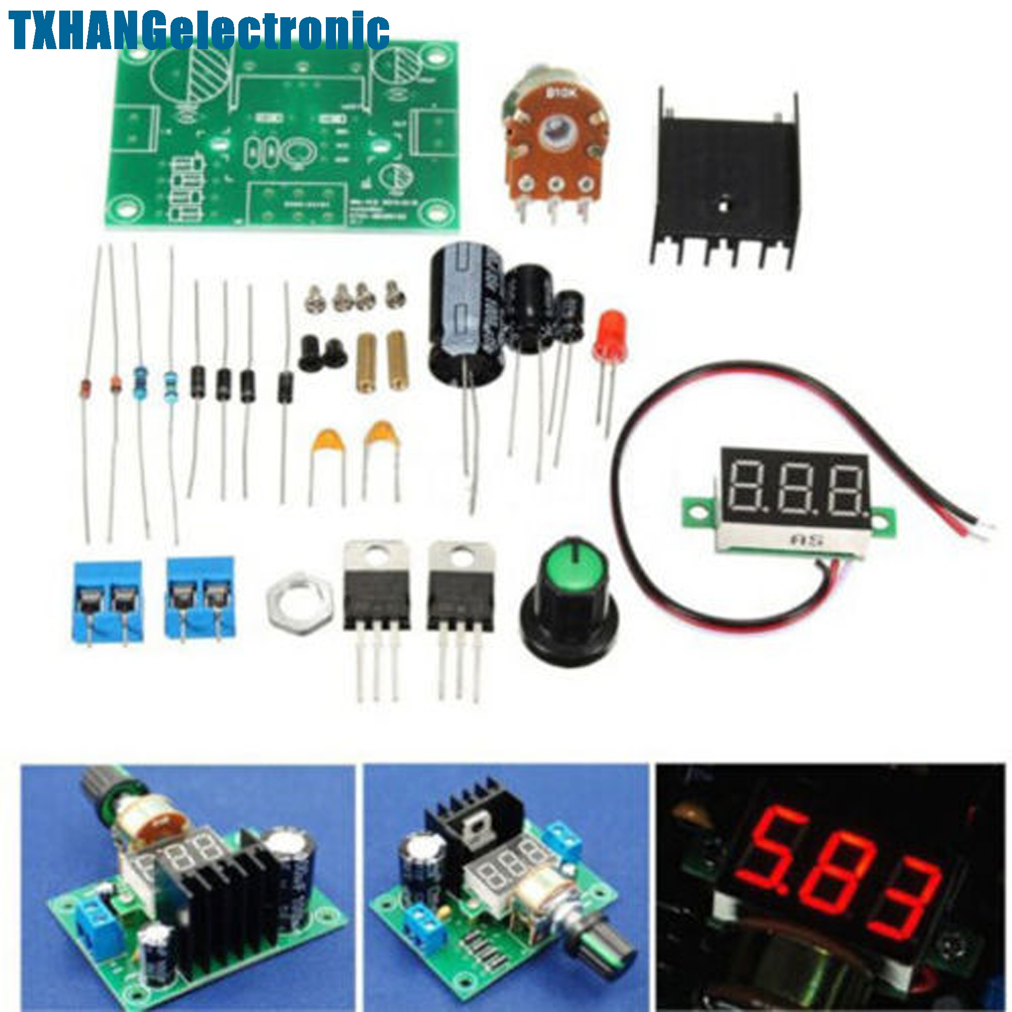 Lm317 Digital Display Adjustable Regulated Power Supply Board Module Circuit With Variable Output Voltage Of 12 30v Diy Kits Electronic In Integrated Circuits From Components Supplies On