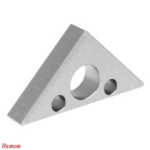 45 Degree Aluminum Alloy Angle Ruler inch metric Triangle ruler Carpenter's Workshop Woodworking square Multifunction Tool