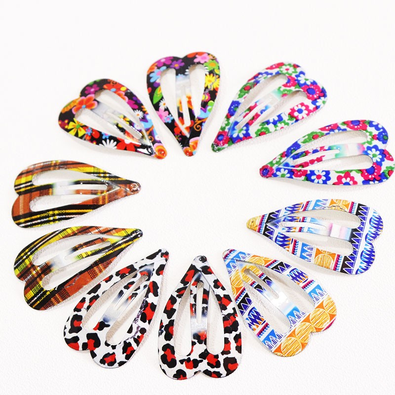 HTB1gvKVOpXXXXcSXVXXq6xXFXXXg Delightful Flower Geometric Print Hair Clip Set For Women - 7 Sets