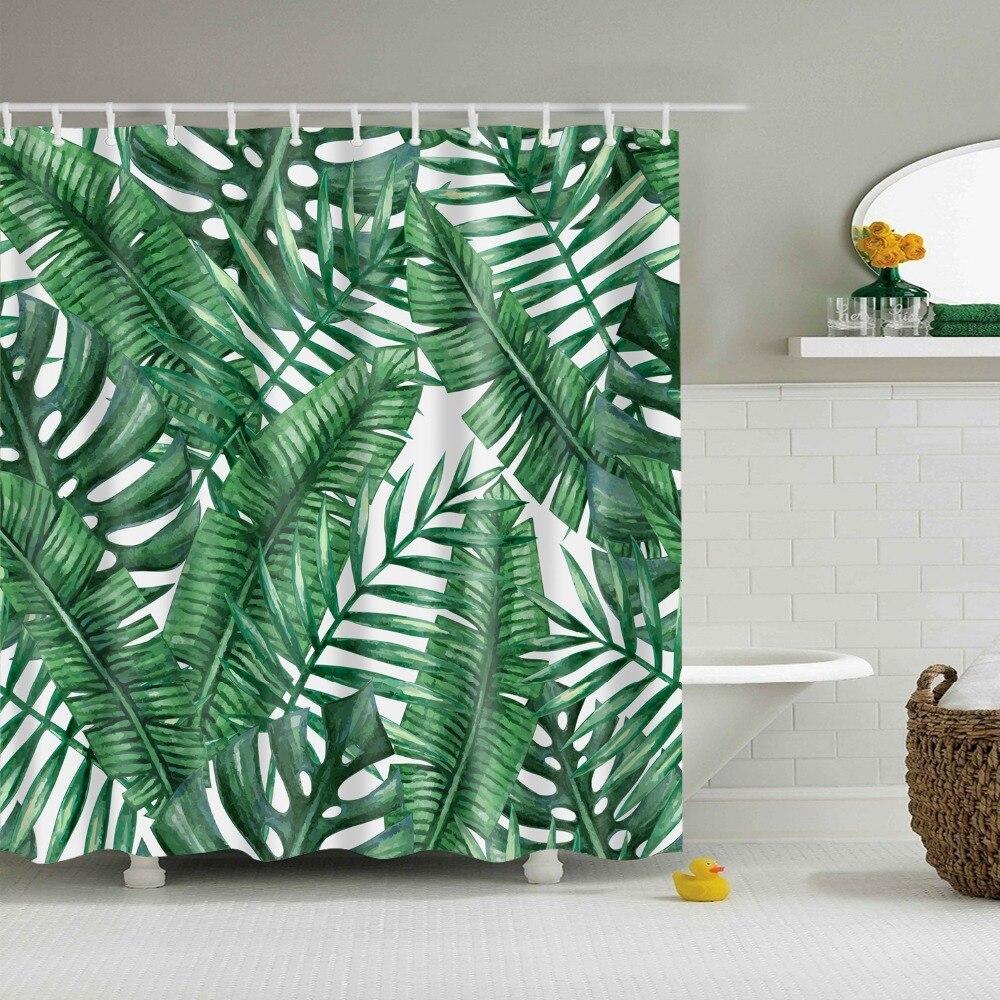 Rainforest shower curtain - Online Shop Green Rainforest Shower Curtain Waterproof Duschvorhang Rideaux De Douche Tropical Trees Shower Curtain Aliexpress Mobile