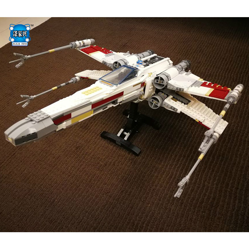 Red Five X-wing Starfighter Blocks Bricks figures Toys Set Boy Game Plane Weapon Compatible with lepins DIY model krennic s imperial shuttle building bricks blocks toys for children boys game plane weapon compatible with lepins diy model