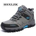 Hombres Botas de Caminata de Prueba Al Aire Libre Hombres Zapatos de Trekking Impermeables Antideslizantes Hombres de Escalada Hombres de La Moda Del Calzado