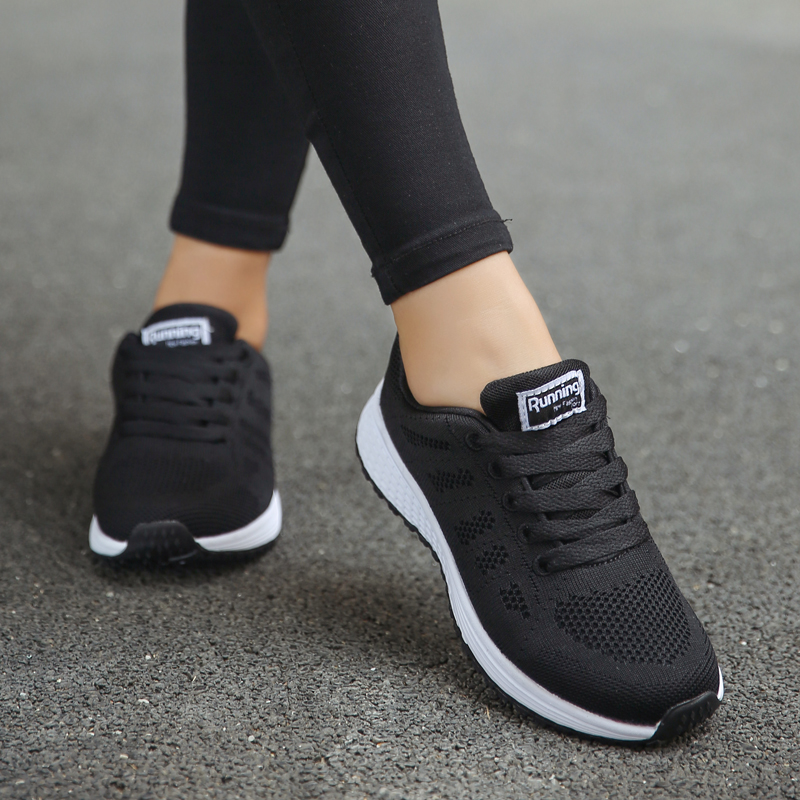 Akexiya Black Sport Shoes Woman Air Cushion Running Shoes For Women 2019 Outdoor Summer Sneakers Female Walking Jogging Trainers