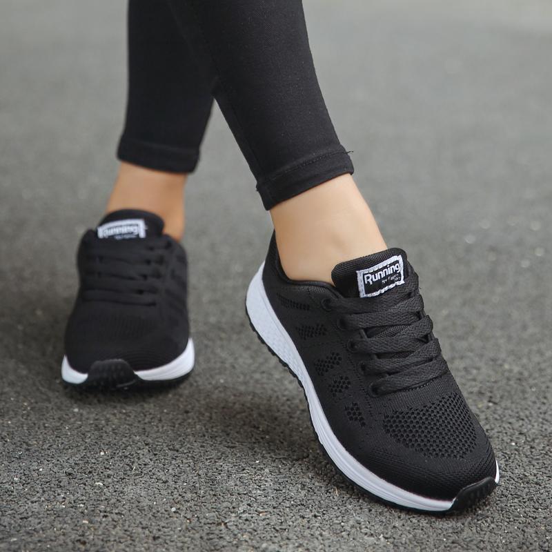 Женские кроссовки с воздушной подушкой Akexiya, черные спортивные кроссовки для прогулок и бега, лето 2019