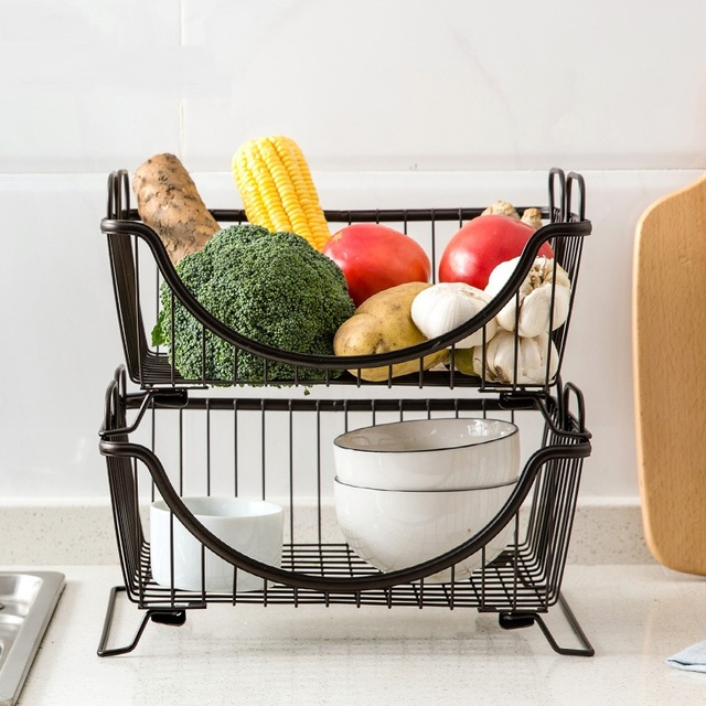 US $25.62 25% OFF Metall Regal Küche Boden Speicher Geschirr Schüssel  Regale Regale Gemüse Regal Schüssel in Metall Regal Küche Boden Speicher ...