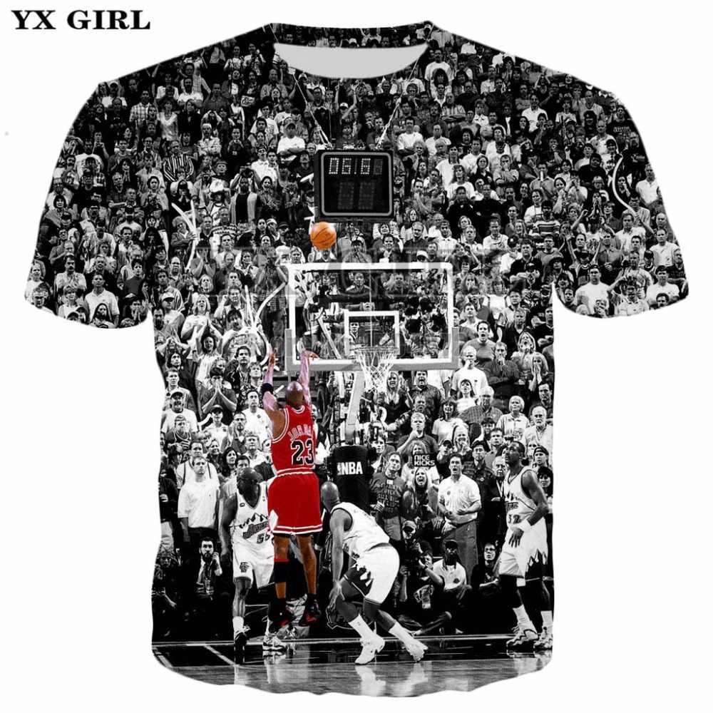 official photos d232b a1706 Detail Feedback Questions about YX Girl S 5XL Mens New Fashion Tshirt Summer  Casual Tees Men Boy T shirt Michael Jordan 3d Printed T shirt O Neck T  shirts ...