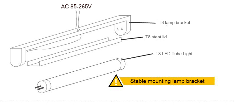 Online Shop 50PCS 06Meter t8 led tube support tube wire fixture – Led T8 Tube Wiring Diagram