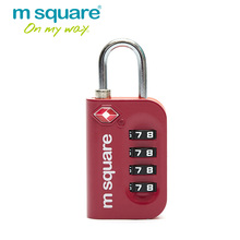 M Square Travel Accessories for 4 Digit Combination TSA Lock Padlock Luggage Suitcase Travel Bag Code Lock