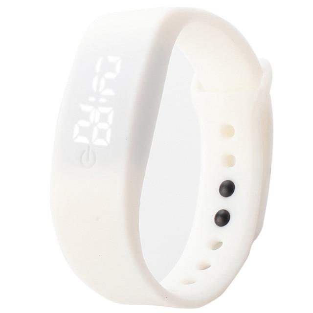 Rubber LED Watch Date Sports Bracelet Digital Wrist Womens Mens Watch Fashion