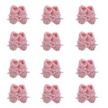 Free Shipping 12 pairs miniature crochet booties baby shower favors baptism decorations
