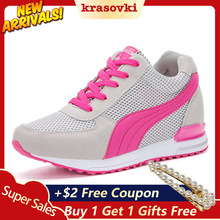 Krasovki Sneakers Women Casual Shoes Platform WedgesBreathable Air Mesh Comfortable For Walking Female Fashion