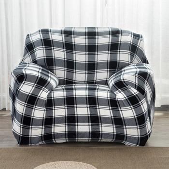 Classic Stripe Tight All-inclusive Sofa Couch Covers Stretch Elastic Vlevet Wrap Entire Slipcover Single Sofa Cover