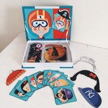 Bonecas dos desenhos animados puzzle magnético enigma livro ímã magnético puzzle brinquedo caixa de vestir o bebê crianças livros magnéticos