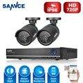 Sistema de Seguridad 4CH DVR 720 P Cámara SANNCE 1280TVL IR Exterior Cámaras de Vigilancia CCTV 4 canales DIY Kit de limpieza venta