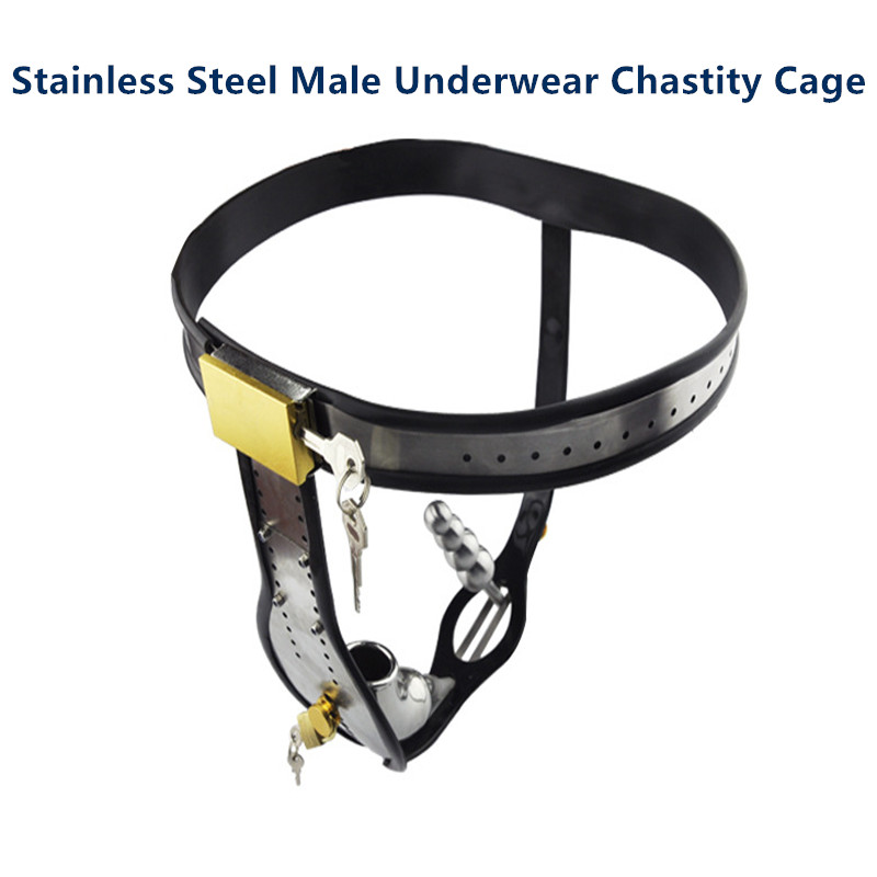 Nouveau dispositif de chasteté mâle en acier inoxydable cathéter en Silicone homme Cage à bite ceinture de verrouillage du pénis avec prise anale jeu pour adultes jouets sexuels BDSM
