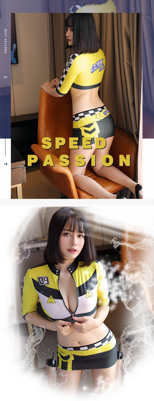 SAROOSY Racer Cosplay Sexy Costumes Women Short Sleeve Detail Top and Skirt  Set Race Car Driver Costume 2018 New Arrival 58e3c2fab