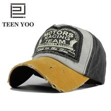 [TEEN YOO] 2019 Spring Washing Denim Cap Baseball Snapback Hat Summer Caps Hip Hop Hats For Men Women Grinding Multicolor Sunhat
