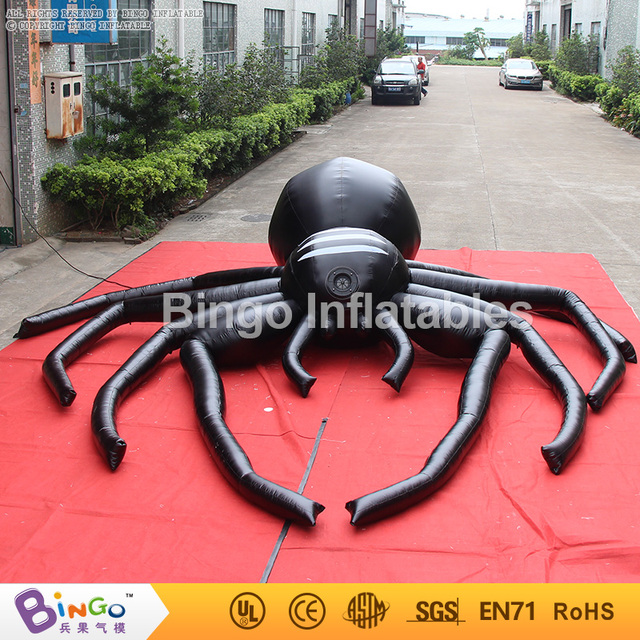 halloween big spider inflatable 5m large black spider halloween decoration BG-A0803-2 toy