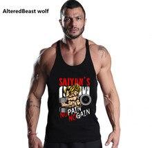 2017 Men tank top GOKU gyms Clothing O Neck cotton Bodybuilding men Muscle fitness Sleeveless Shirt