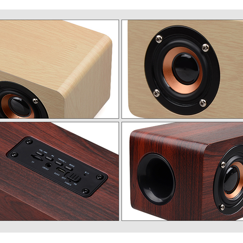 Image 5 - TOPROAD 12W Hifi Bluetooth Speakers Wireless Stereo Subwoofer Altavoz Wood Home Audio Desktop speaker Handsfree TF caixa de som-in Portable Speakers from Consumer Electronics