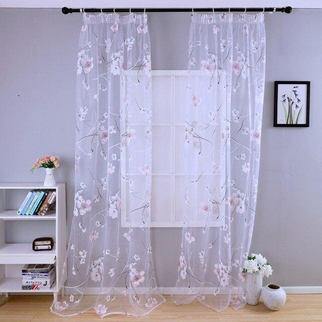Envío libre dormitorio cocina transparente telas cortinas cortas