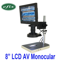 Efix 2MP 8 ТВ ЖК монитор цифровая камера пайка микроскоп Лупа светодио дный лампа ремонт мобильного телефона PCB BGA IC чип инструменты