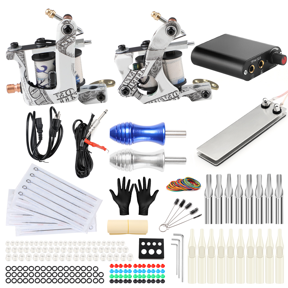 Stigma Complete Tattoo Machine Kit 2 Coils Guns Alloy Tattoo Grips Power Supply Tattoo Grips Body Tattoo TK201-17Stigma Complete Tattoo Machine Kit 2 Coils Guns Alloy Tattoo Grips Power Supply Tattoo Grips Body Tattoo TK201-17