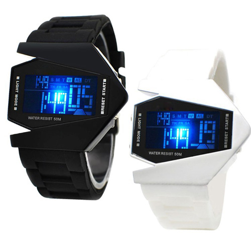 Yellow Blue Led Light Stainless Steel Smart Watch Men Sports Casual Wristwatches Clock #m Green Fashion Led Watch Men Red