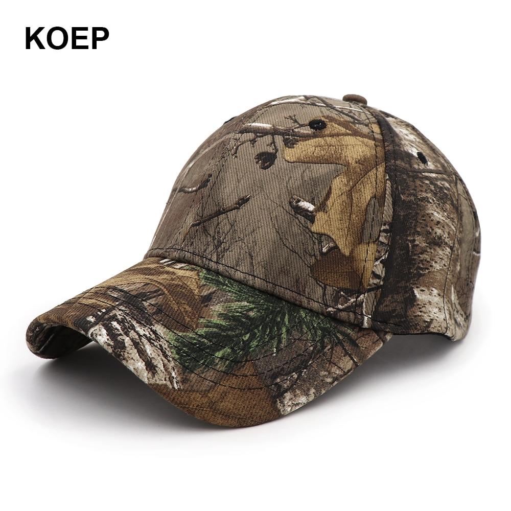 KOEP Outdoor Fishing   Cap   Jungle   Baseball     Cap   Bird Watching Hunt Hat Bionic Breathable Cotton Fishing Hat AP Camouflage Dad   Caps