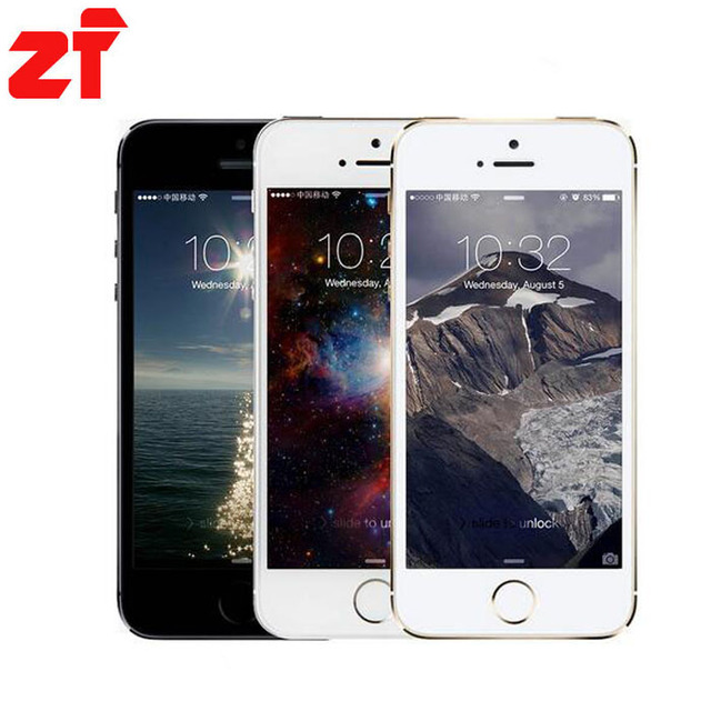 НОВЫЙ Оригинальный iPhone 5S A1530 с IOS Отпечатков Пальцев 8MP Камера GPS GPRS, Bluetooth, WI-FI Multi Language LTE Touch ID Мобильный телефон