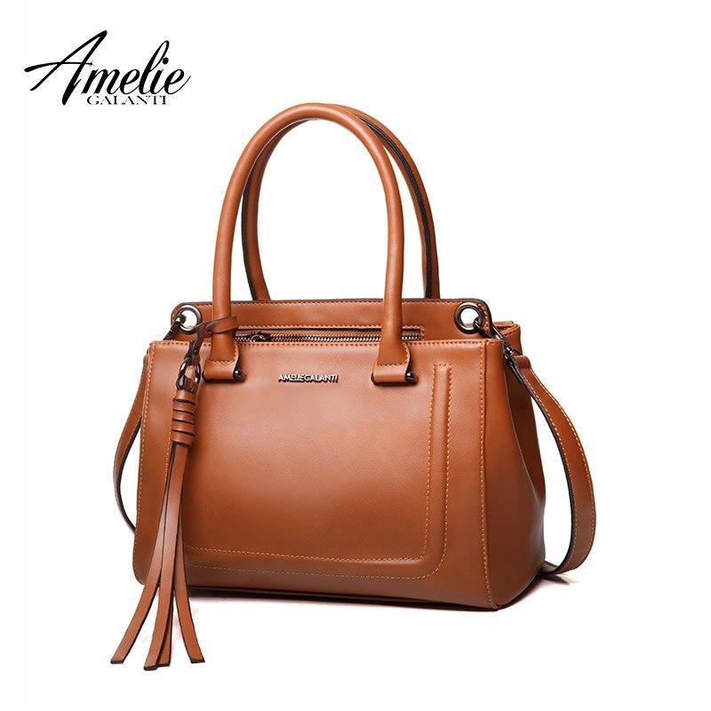 AMELIE GALANTI Women's bag fashion retro styling bag tasteful medium size good quality fabric amelie galanti brand tote handbag